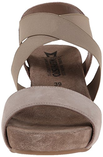 Sandal Bucksoft Women's Wedge Warm Grey Barbara Mephisto twfUOcqU