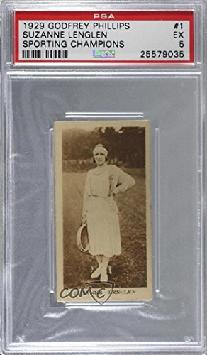 Suzanne Lenglen Graded PSA 5 EX (Trading Card) 1929 Godfrey Phillips Sporting Champions - Tobacco [Base] #1 (Phillips Tobacco Card)