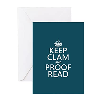 Amazon Cafepress Keep Calm And Proof Read Clam Greeting