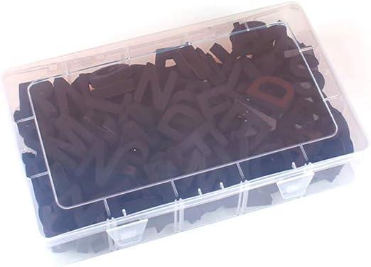 SANGDA Número de Letras magnéticas, 124 Piezas de Espuma EVA Plegable refrigerador magnético números del Alfabeto Scrabble diversión temprana Educativo Juguetes Regalo para niños: Amazon.es: Hogar