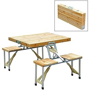 Amazon Com Md Group Picnic Table Foldable Aluminum Heavy