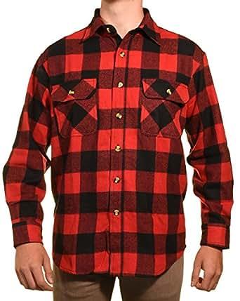 Guides choice pro elite mens heavy duty for Heavy plaid flannel shirt