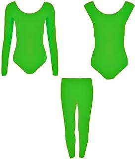 RSVH ragazze bambini balletto danza Body da ginnastica lucido nylon Lycra leggings confezione