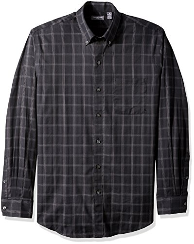 Van+Heusen+Men%27s+Flex+Long+Sleeve+Stretch+Shirt%2C+Black%2C+Large