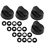 Spares2go Universal Gas Fire Trouser Press & Storage Heater Black Control Knobs Pack Quantity: 4
