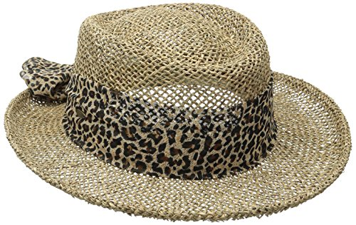 d Seagrass Gambler Hat, Natural, One Size (Twisted Seagrass Straw Hat)