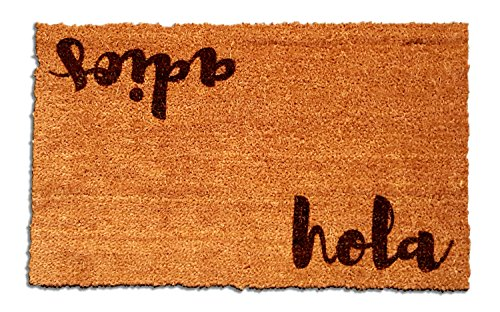 "Cheap  Hola - Adios Laser Engraved Coir Fiber Doormat 30"" x 18"""