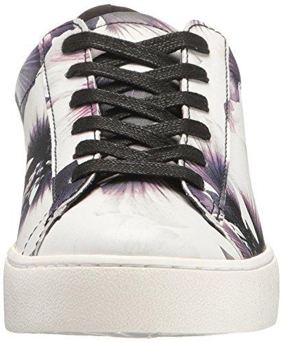 Nine West Womens Palyla Patent Mode Sneaker Svart Vit / Svart