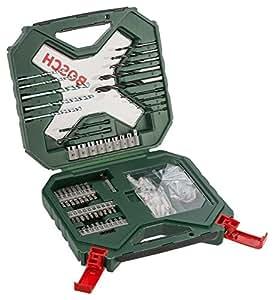Bosch 2 607 010 613 - Maletín X-Line de 90 unidades para taladrar y atornillar - 259 x 63 x 243
