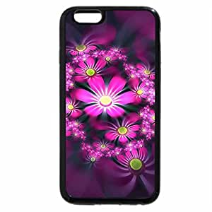 iPhone 6S / iPhone 6 Case (Black) flowers in 3d