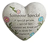 """""""Someone Special"""" Engraved Painted Heart Memorial Garden Stone, Cement Construction, 6""""L x 6""""W x 3""""H Review"""