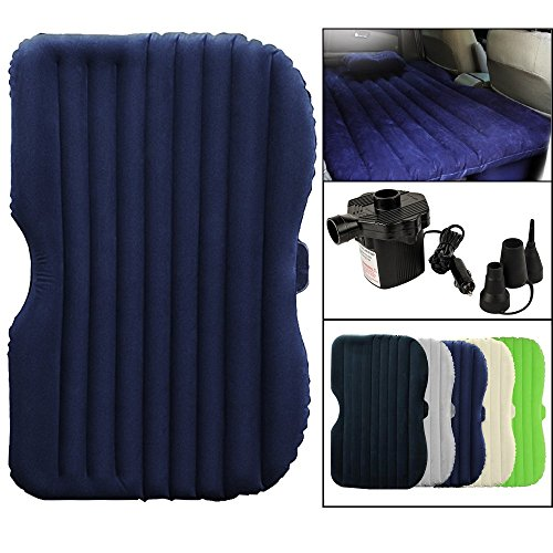 Wolfwill Car SUV Air Bed Mobile Mattress Cold-Proof w/ Welvet Travel Car Sex Back Seat (Blue)