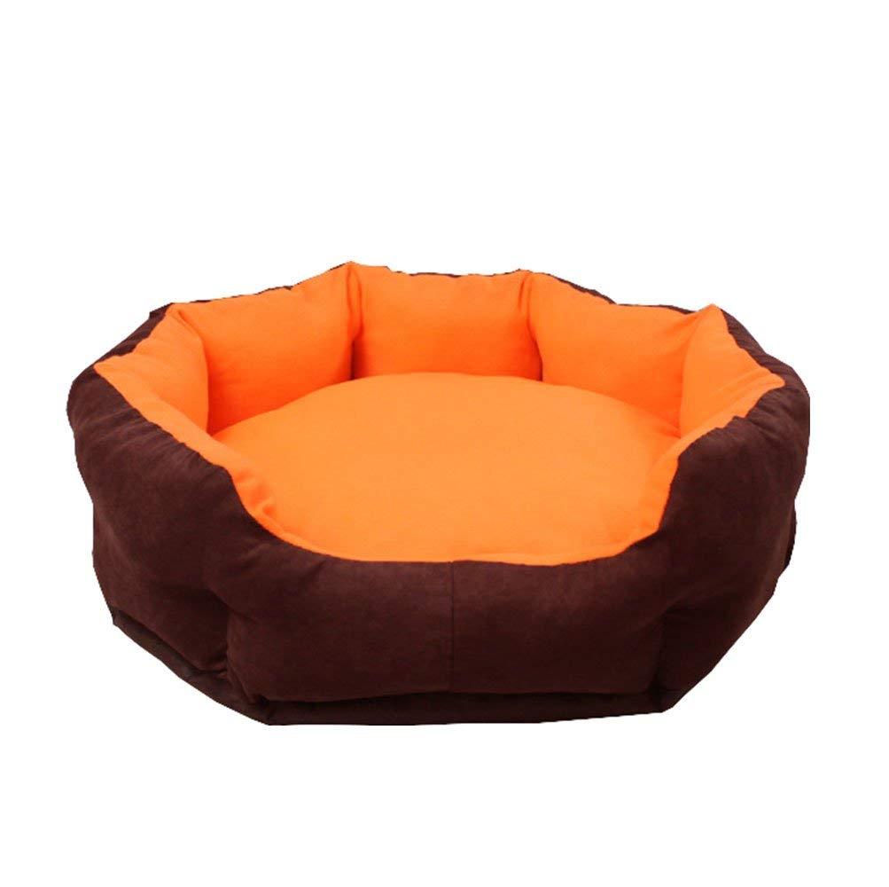 orange Medium orange Medium Pet Bed Soft Luxurious and Comfortable Cat Dog Donut Bed with Removable Washable with Waterproof Anti Slip Base (color   orange, Size   Medium)