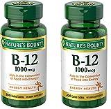 B-12, 1000 Mcg, Supplement, 2 Bottles (200 Count)