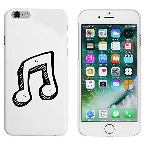 Blanc 'Note de musique' étui / housse pour iPhone 6 & 6s (MC00087715)