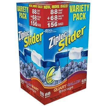 Amazon Com Ziploc Slider Storage Bag Gallon Value Pack