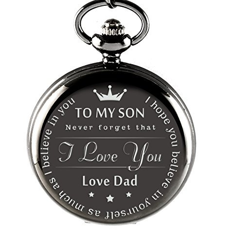 """ To My Son - Love Dad "" Gift To Son From Father birthday gift pocket watch Great gift for Son"