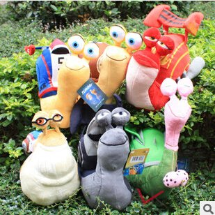 3D Movie Turbo Racing League Plush Toys 30cm Snail Plush Doll Game Cartoon Free Shipping