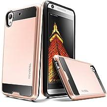 Evocel® HTC Desire 626 / 626s Case [Hybrid Lite Series] Slim Protector Case [Brushed Metal Texture][Slim][Shiny] For HTC Desire 626 / 626s, Rose Gold (EVO-HTC626-MS25)
