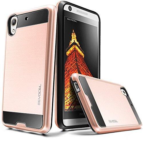 Evocel HTC Desire 626 / 626s Case [Hybrid Lite Series] Slim Protector Case [Brushed Metal Texture][Slim][Shiny] For HTC Desire 626 / 626s, Rose Gold (EVO-HTC626-MS25)