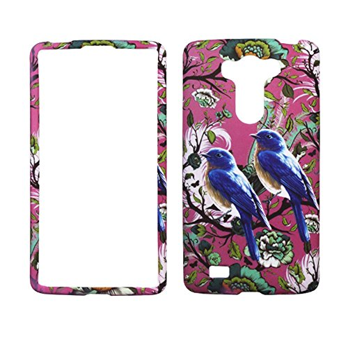 2D Blue Bird For LG G Vista VS880 Case Cover Hard Phone Case Snap on Shield Protector Rubberized Touch Faceplate - 2d Plate Blue