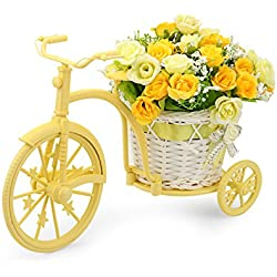Louis Garden Nostalgic Bicycle Artificial Flower Decor Plant Stand (Yellow)