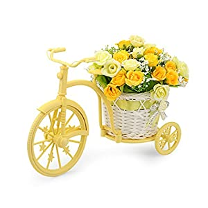 Louis Garden Nostalgic Bicycle Artificial Flower Decor Plant Stand (Orange) 11