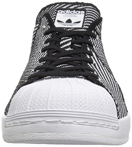 Adidas Originali Mens Sneakers Superstar Casual R Core Nero / Running White Ftw / Running Ftw Bianco