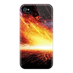 Pretty BwrIyyp756sXnwm Iphone 4/4s Case Cover/ Abstract Flames Fire Matchsticks Series High Quality Case