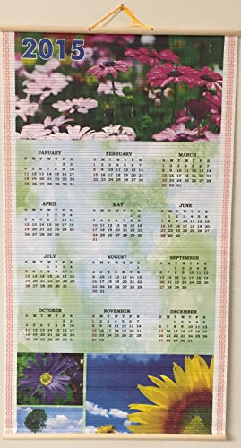 Scroll Roll (Beautiful Spring Flowers Scroll Roll Double-sided Wall Calendar 2015-2016)
