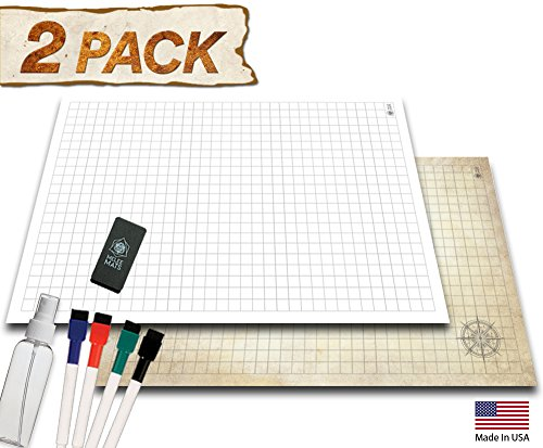 Games Screen Masters (Battle Grid Game Mat - 2 Pack - 24
