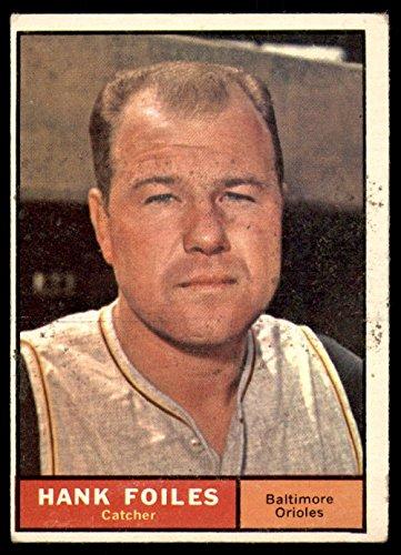(1961 Topps #277 Hank Foiles Very Good Orioles)