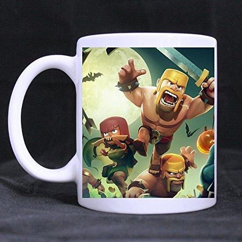 Simple Gift For Christmas / New Year / Birthday - White Mug clash of clans Hashtag 11OZ/100% Ceramic Custom Coffee / Tea Mug (Dropship Personalized Gifts)