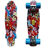 RIMABLE Complete 22 Inches Skateboard Skull2