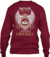 Teespring Unisex Limited Edition: WOMAN WITH CHESS SKILLS Gildan 6.1oz Long Sleeved Shirt