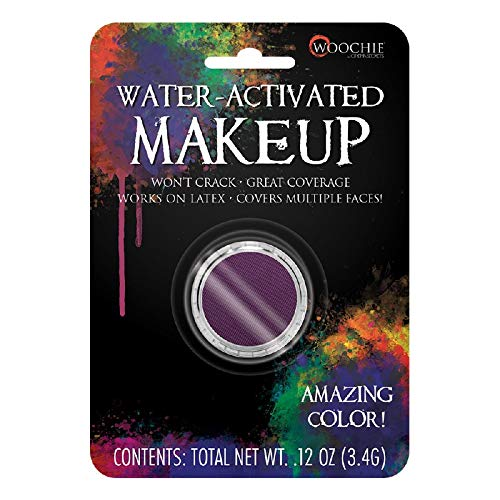Woochie Water Activated Makeup - Professional Quality Halloween and Costume Makeup - (Undead Purple, 0.1 oz) -