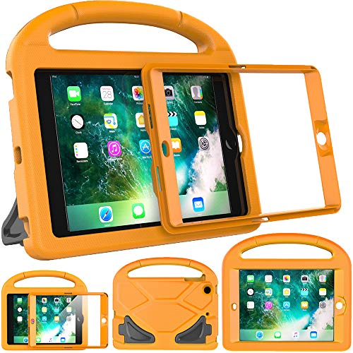 eTopxizu Kids Case for iPad Mini 1 2 3, Light Weight Shock Proof Handle Stand Cover Case with Built-in Screen Protector for iPad Mini 1, iPad Mini 2 and iPad Mini 3, Orange