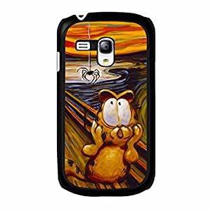 Garfield Samsung Galaxy S3 Mini Case,Charming Painting Garfield Phone Case Protective Shell Cover for Samsung Galaxy S3 Mini