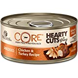 Wellness Core® Hearty Cuts Natural Canned Grain Free Wet Cat Food, Chicken & Turkey, 5.5-Ounce Can (Pack of 24)