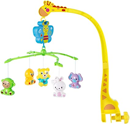 VicTsing Musical Crib Mobile with Night Light Baby Bed Holder Crib Cot Mobile Ar
