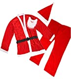 Christmas Adult Costume Velvet Santa Claus Costume Suit for Men A031