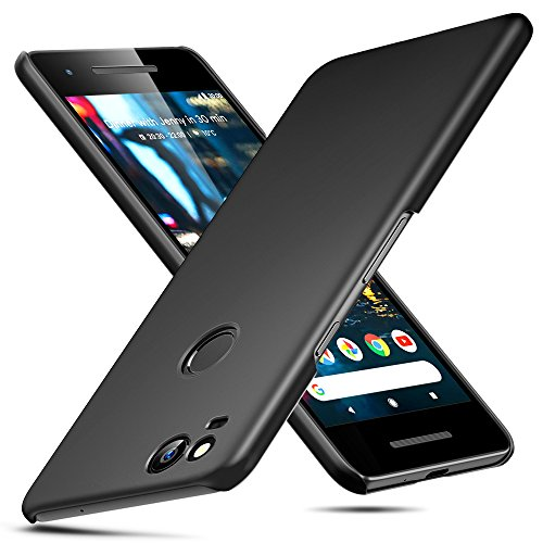 ESR Hard Pixel 2 Case, Slim Black Shock Absorption Hard TPU Cover Case [Utra-Thin and High Protection] Compatible for The Google Pixel 2, Black