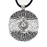 Paw Paw House Yoga Inspired Kybalion Pendant Necklace Amulet Tree of Life Talisma Chi As Above As Below As Within As Without Meditation (4082 Si) (4082)