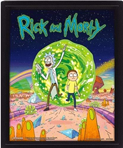762313eb02b82 Cartoon Network Rick and Morty Portal 3D Lenticular Poster