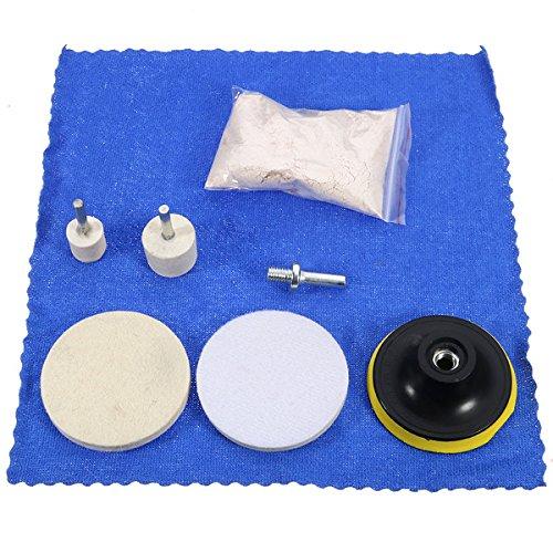 EsportsMJJ 7St 70 G Cer-Oxid Polieren Pulver Und 3 Inch Felt Polieren Wheel Pad Kit