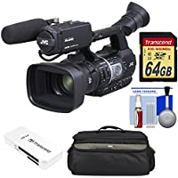 JVC GY-HM620U ProHD Professional Mobile News Camcorder with Microphone + 64GB Card + Case + Reader + Kit