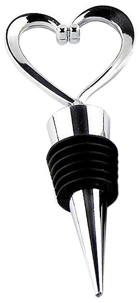 Heart Wine Bottle Stoppers - 60 count