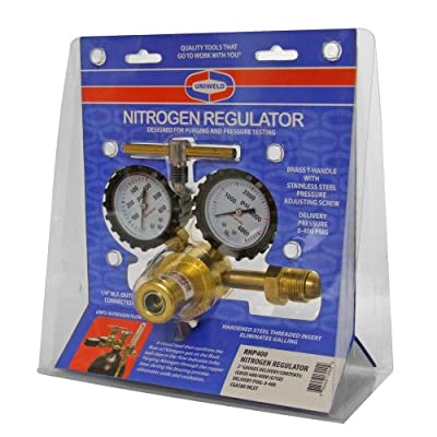 Uniweld RHP400 Nitrogen Regulator with 0-400 PSI Delivery Pressure, CGA580 Inlet Connection and 1/4-Inch Male Flare Outlet Connection - Radnor Nitrogen Regulator - .com