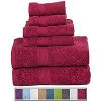 Hydro Basics Fade-Resistant 6-Piece Cotton Towel Set (Multiple Colors)