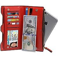 iclutch Mujer Elegante Gran Capacidad cartera tarjeta de crédito organizador pasaporte teléfono